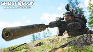 Ghost Recon Breakpoint STEALTH SNIPER VS HARDEST WOLF CAMP! Ghost Recon Breakpoint Free Roam