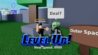 ROBLOX LEGENDS OF SPEED LEVEL HACK/GLITCH