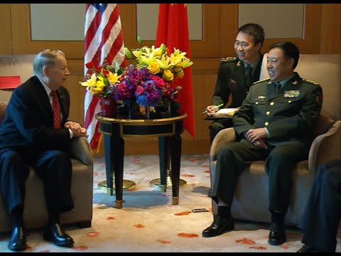 Senior Chinese Military Official Meets US WWII Veteran in Washington