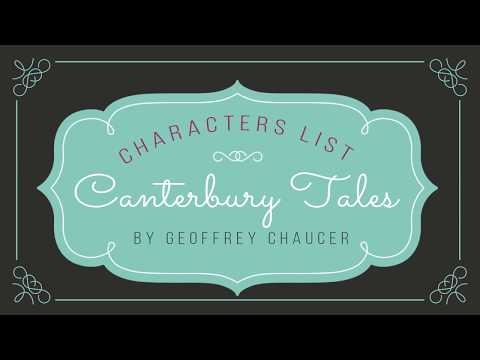 Canterbury Tales By Geoffrey Chaucer Characters List