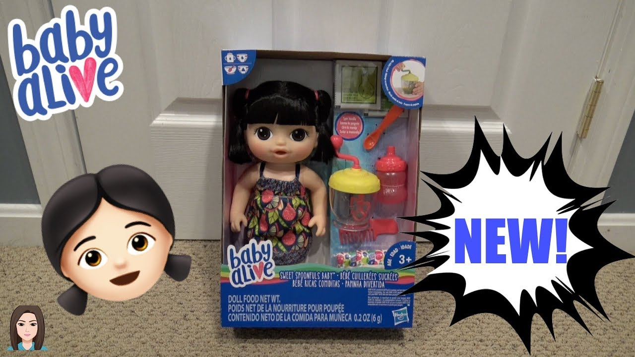 Brand New Baby Alive Asian Sweet Spoonfuls Doll Box