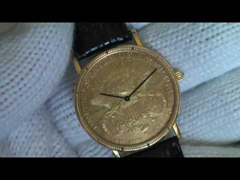 Corum 1882 Quartz American $20 Gold Coin Watch Authentic Rare