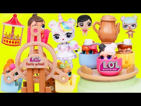 LOL Surprise Doll Visits Baby Fair for Confetti Pop Lil Sisters + Big Customized DIY Blind Bags