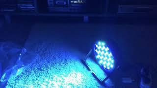 Стробоскоп LED PAR LIGHT 54 HOTU работа под музыку(, 2017-12-14T19:27:39.000Z)