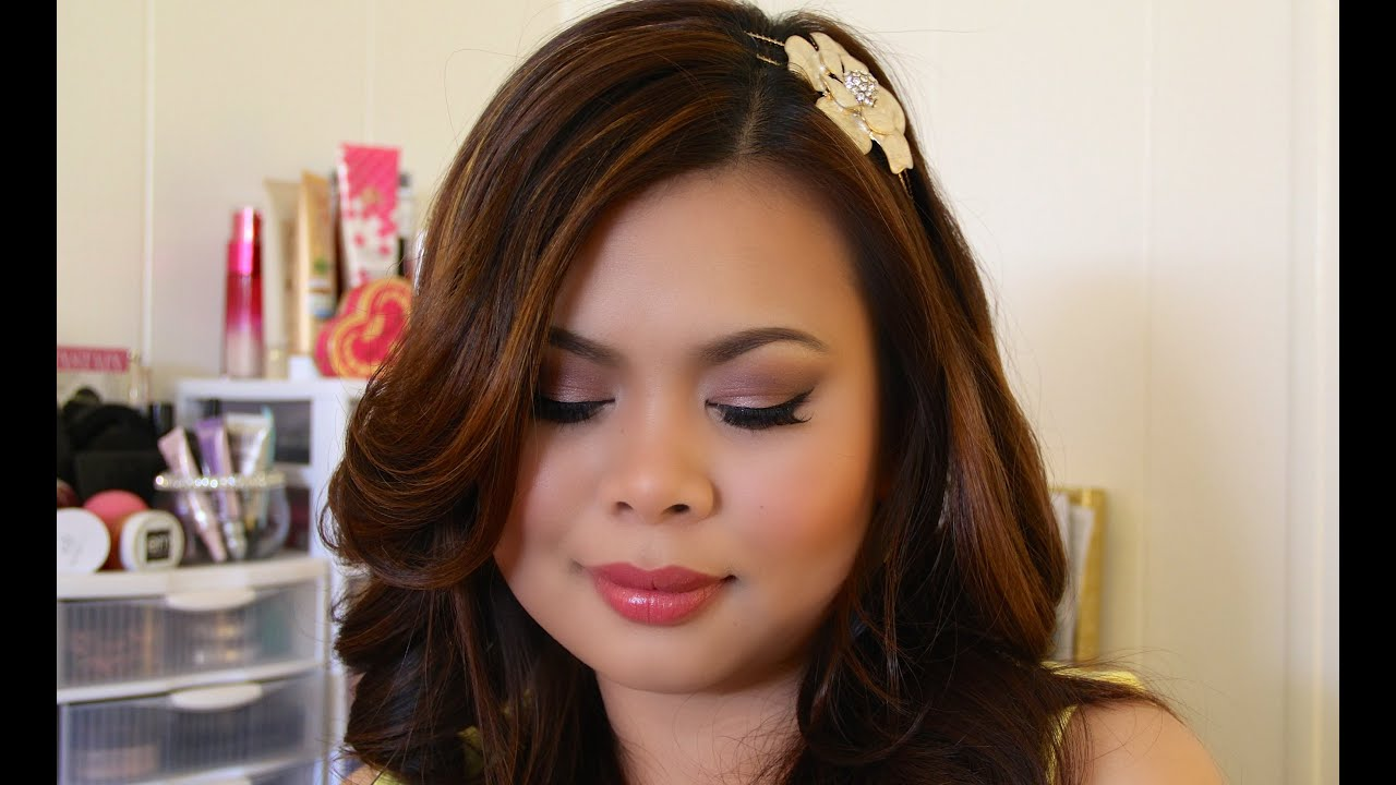 hair and makeup look for prom 2014 youtube