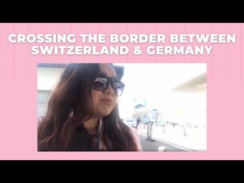 Crossing The Border Between Switzerland & Germany