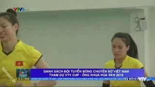 Danh sách đội tuyển nữ Việt Nam tham dự VTV Cup 2018 #VTVCUP2018
