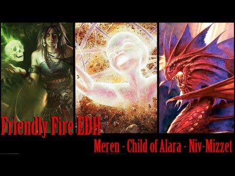 Meren VS Niv-Mizzet VS Child of Alara EDH / CMDR gameplay for Magic: The Gathering