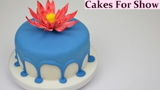 Making a Drip Cake - Royal icing
