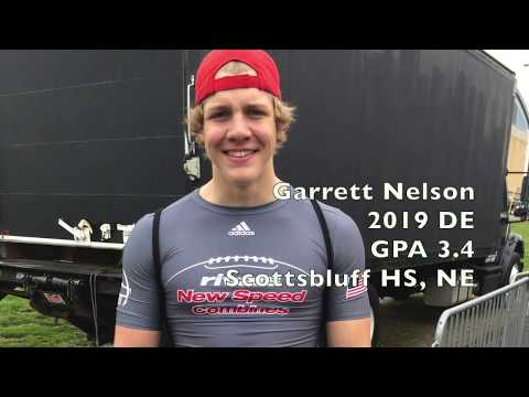 Garrett Nelson 2019 DE Scottsbluff HS, NE Rivals Camp Footage
