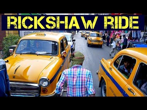 Pulled Rickshaw Ride in Kolkata, India