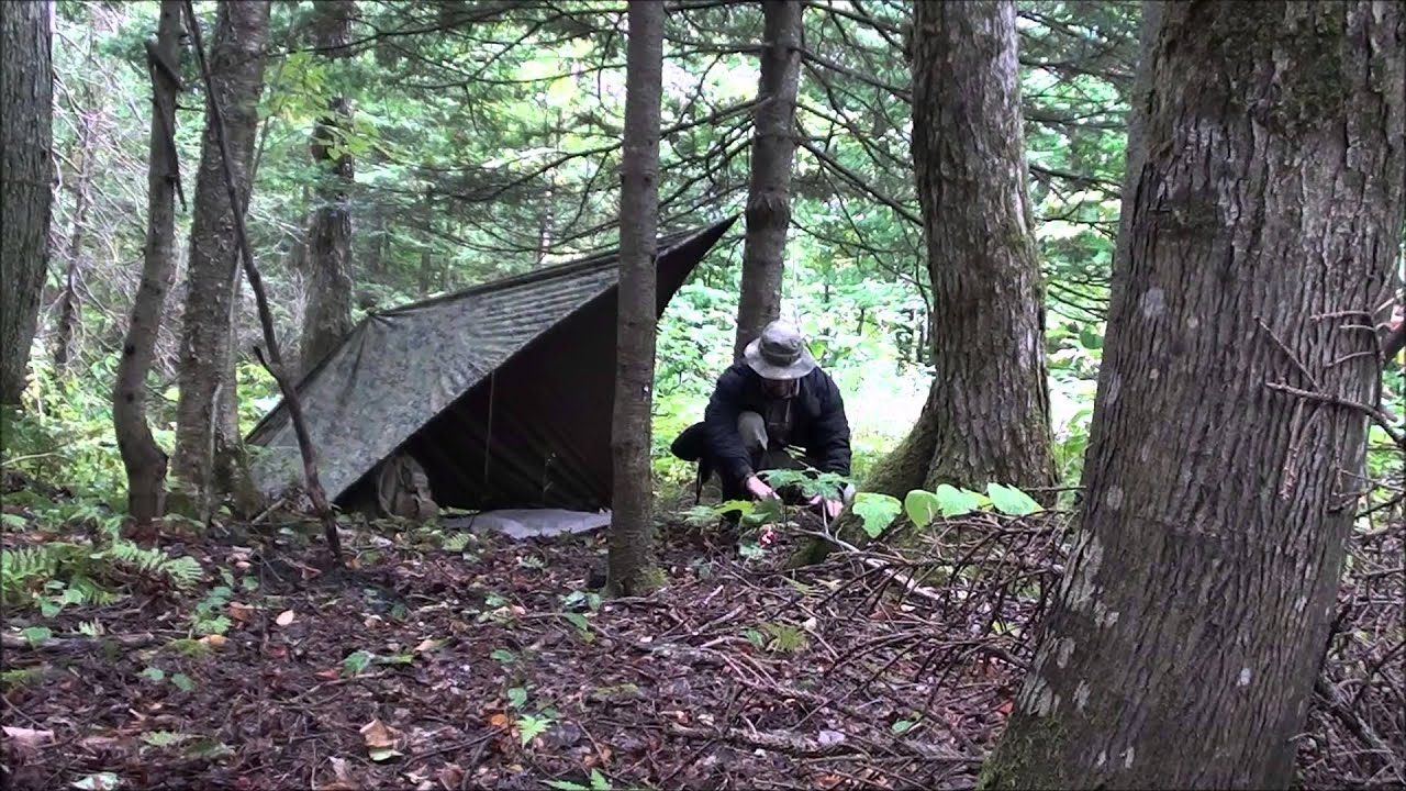 Tarp Set Up To Use With An Open Fire Youtube