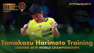 Tomokazu Harimoto Training | Liebherr 2019 World Table Tennis Championships