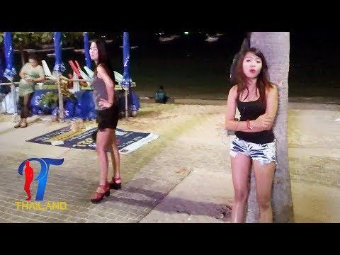 Night walk along the beach street (part 1) Vlog 108