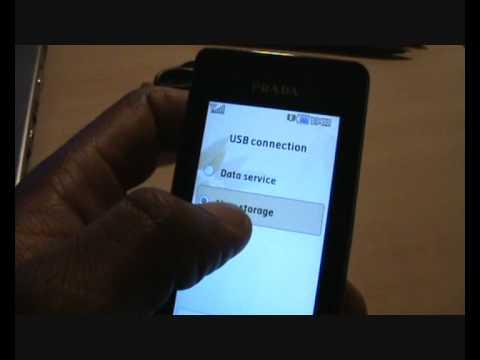 Mass Storage LG Prada (KE850) - MobilePhoneTraining.co.uk