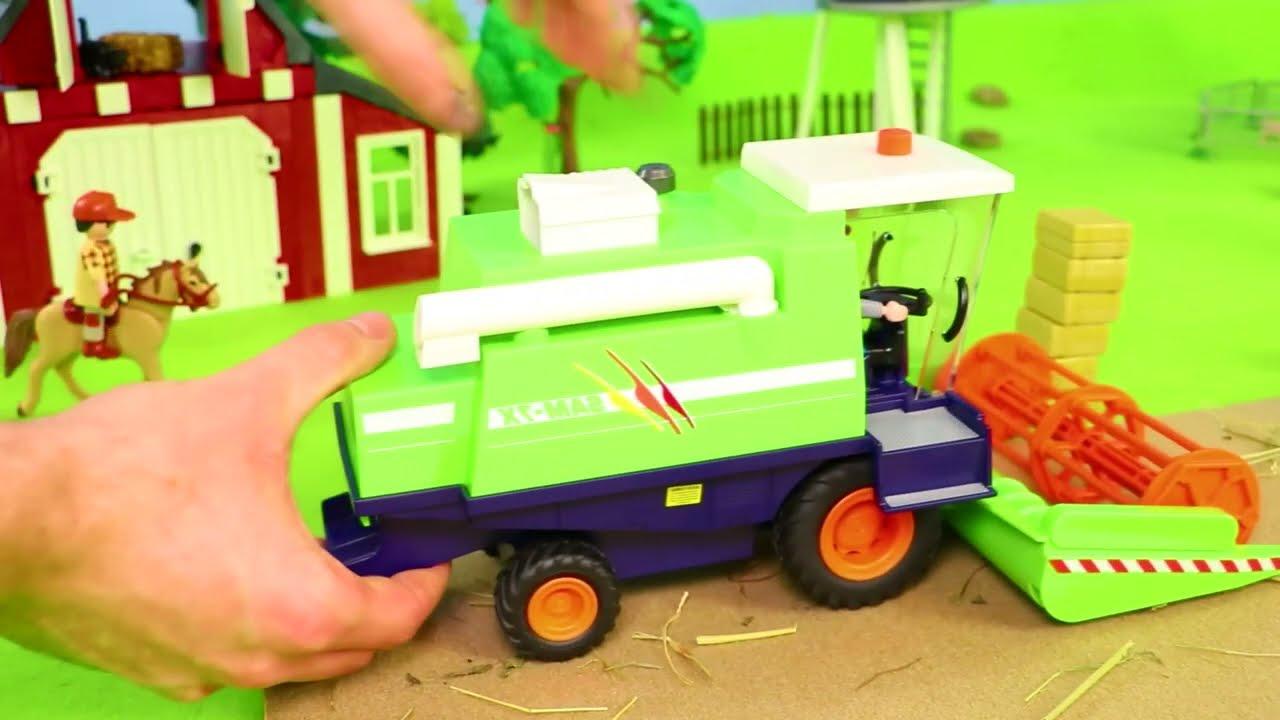 Pelleteuse, voiture de police, tractopelle, Camion de pompier jouets pour enfants - Toys for kids