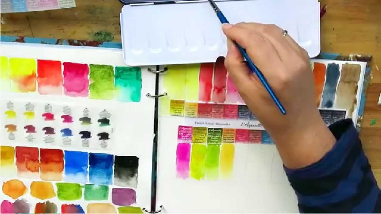 Review Sennelier Watercolour Paint Unpacking Colour