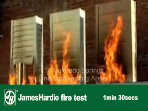 James Hardie Siding Fire Test Fiber Cement Vs Vinyl Vs