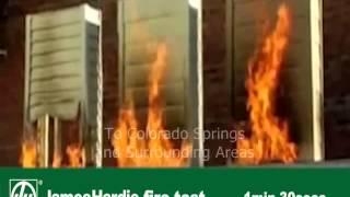 James Hardie Siding FIRE TEST - Fiber Cement vs Vinyl vs Wood - Colorado Springs Siding Contractor