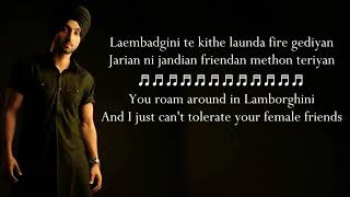 Laembadgini song |Diljit dosanjh| lyrics with meaning in english 🔥🔥🔥
