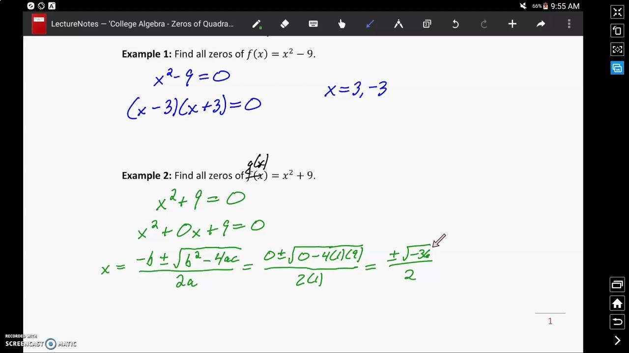finding xintercepts of quadratics  youtube