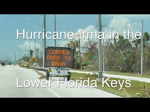 Driving Down the Florida Keys after Hurricane Irma