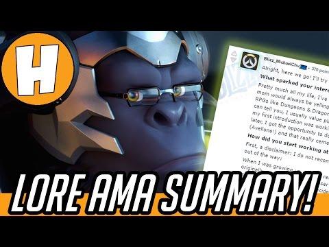 Overwatch Lore - Michael Chu Reddit A.M.A Summary!   Hammeh
