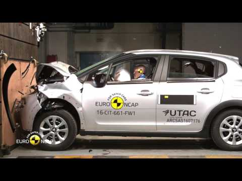 Euro NCAP Crash Test of Citroën C3