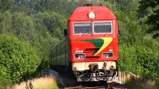 ТЭП70БС-003 поезд для болельщиков / TEP70BS-003 with a football fan train