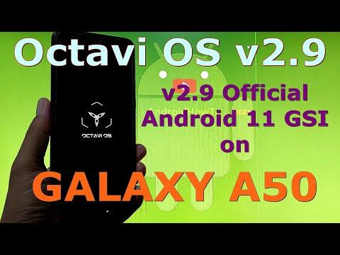 Octavi OS v2.9 Official on Samsung Galaxy A50 Android 11 GSI ROM