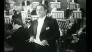 """Gigli sings """"Che Gelida Manina"""" from 1936 film Ave Maria"""