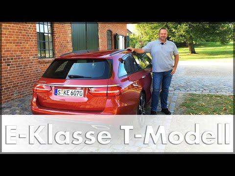Mercedes E-Klasse T-Modell 2017 E 220 D Test Fahrbericht Auto Deutsch