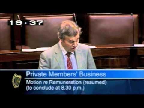 Deputy Robert Dowds speaking on remuneration