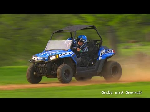 Polaris RZR 170 Crash and Rollover | Gabe and Garrett