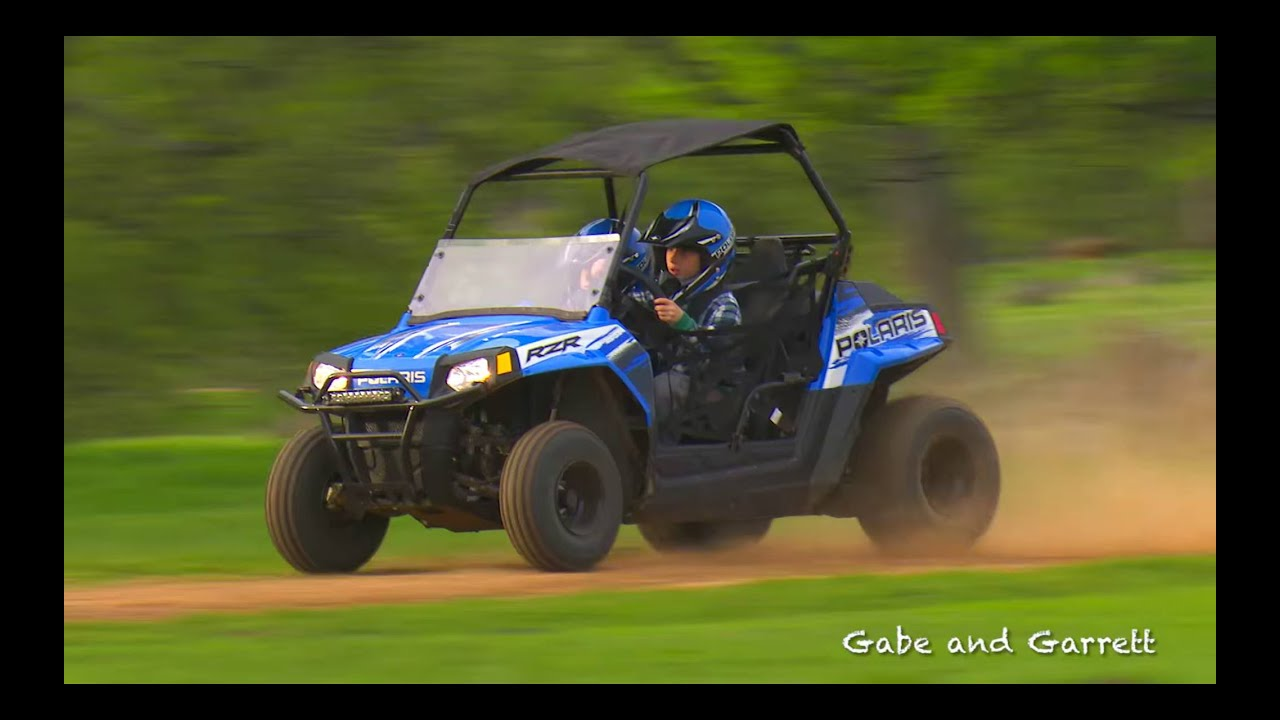 b2822a1febe Polaris RZR 170 Crash and Rollover | Gabe and Garrett - YouTube