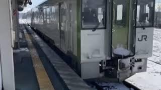 【JR東日本 キハ110-206】米坂線 坂町行き 今泉駅から撮影