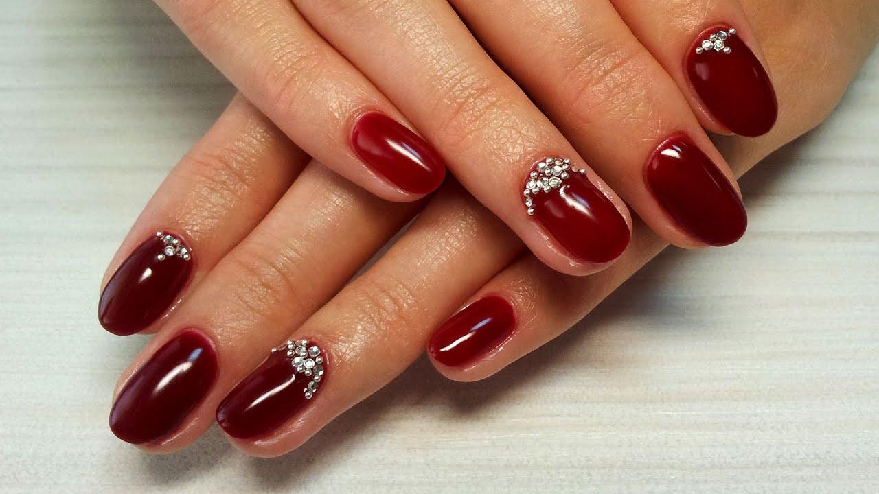 Дизайн ногтей гель-лак shellac - Дизайн ногтей стразами ...