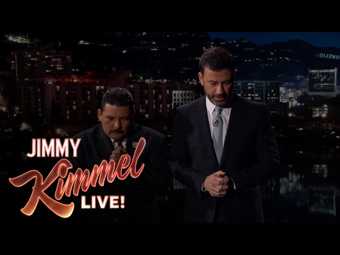 Jimmy Kimmel and Guillermo Pray for Arnold Schwarzenegger