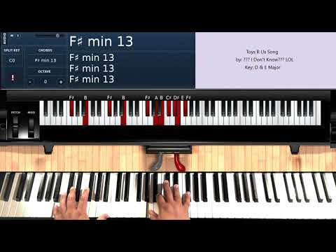 Toys R Us Song - (Piano Tutorial From The Evantubehd Toys R Us Music Video)