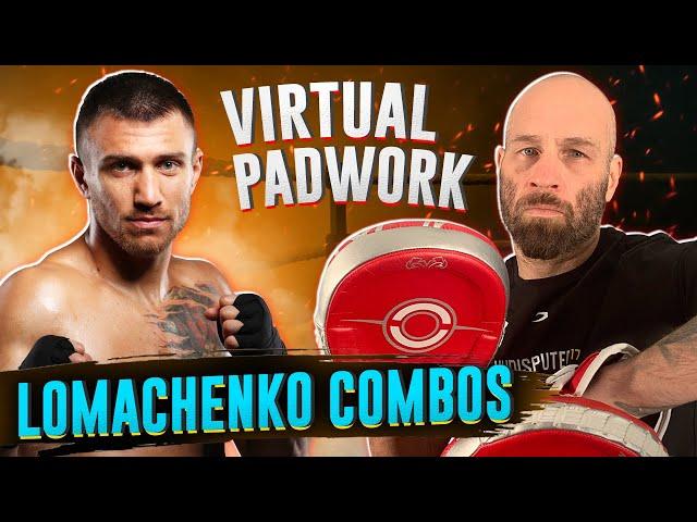 Lomachenko Virtual Padwork | Lots of Boxing Combos and Tactics