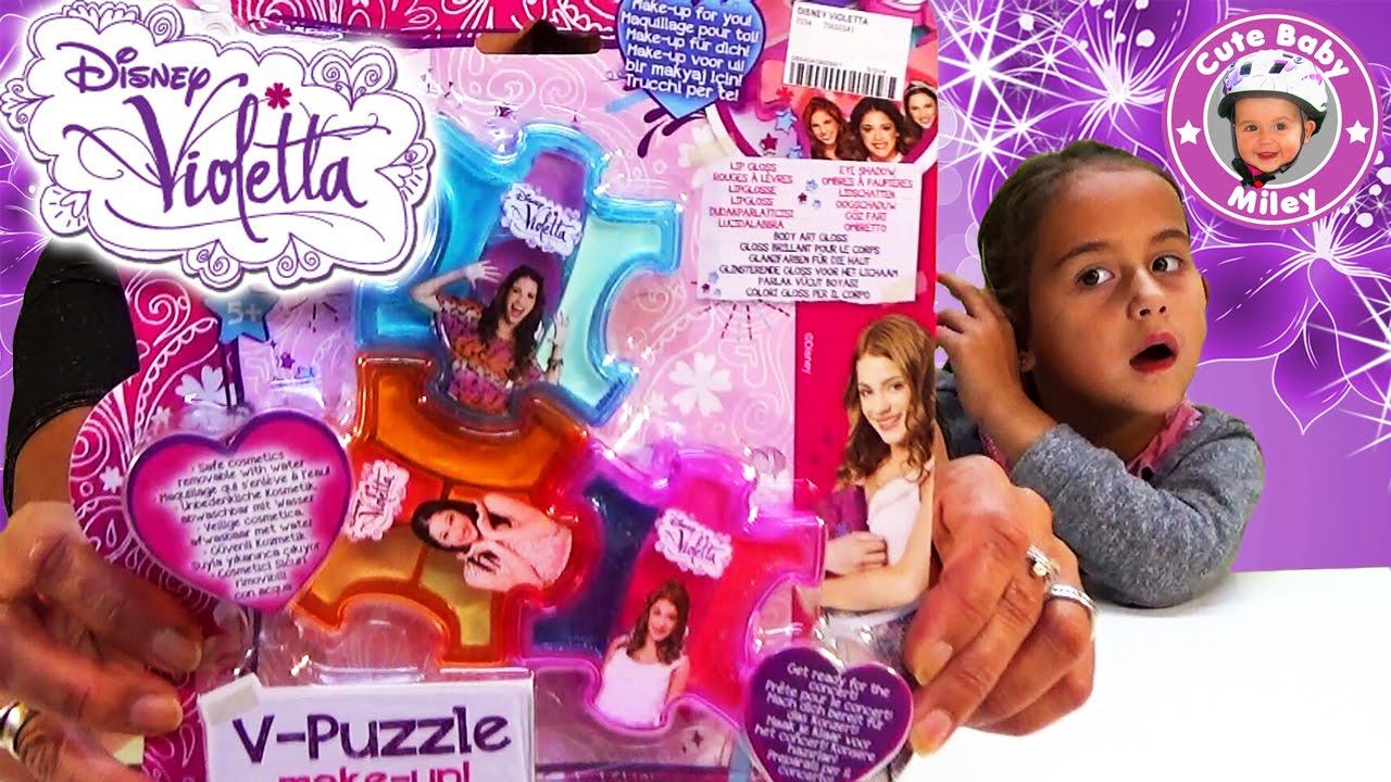 violetta v puzzle makeup schminkset test review unboxing. Black Bedroom Furniture Sets. Home Design Ideas
