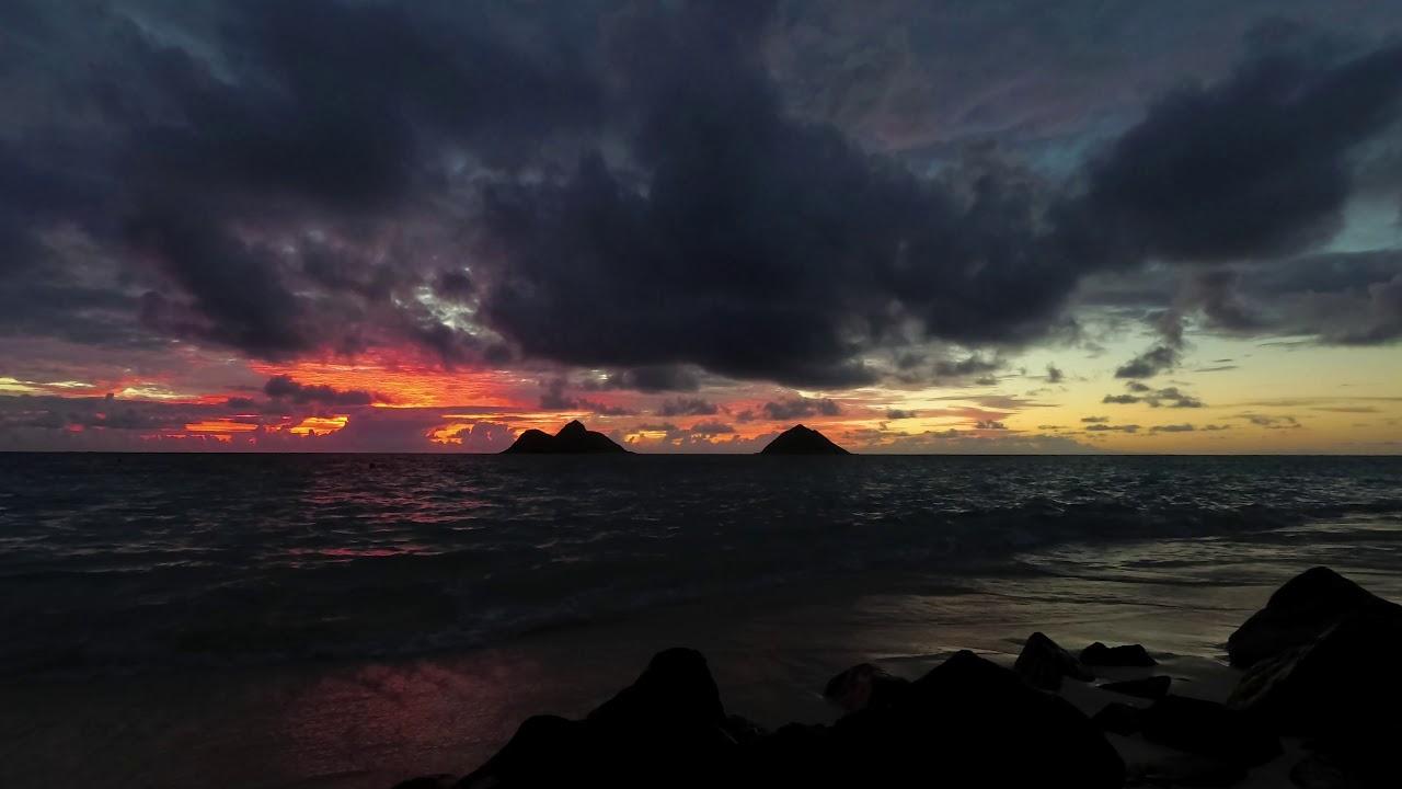 Lanikai Beach Sunrise Oahu Hawaii July 1 2018