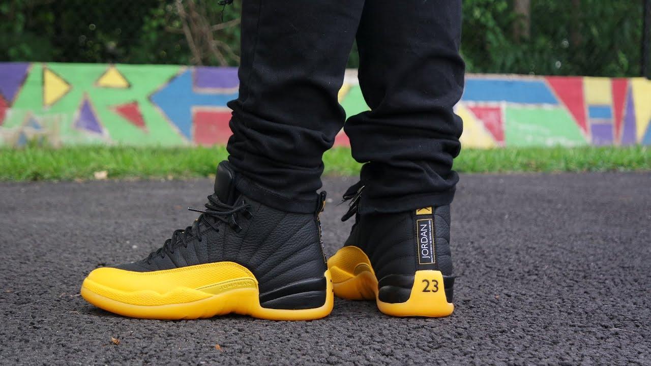 Air Jordan 12 University Gold Review On Feet Youtube