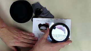 REVIEW Dylviw Magnifier 5X Desktop Magnifying Glass with Ultra Bright LED Light Large Viewing Area