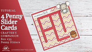 Tutorial - Penny Slİder Cards Using Crafter's Companion Box 35 - Penny Sliders
