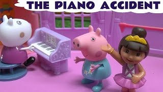 Peppa Pig Dora The Explorer Piano Accident Story Episode Dance Studio Minnie Mouse Shopkins Toys