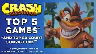 Crash Bandicoot's Top 5 Games (And Top 50 Crimes) — Pat's Pets, Volume 2 Video