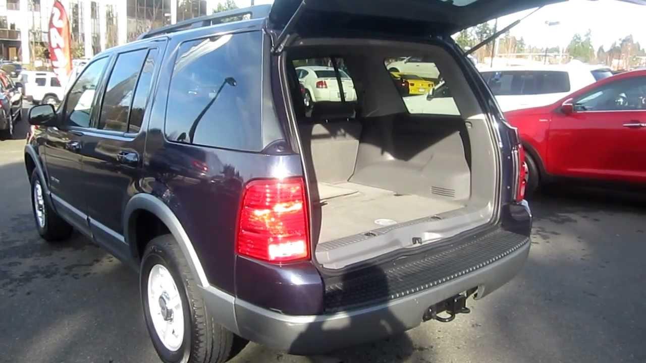 2002 ford explorer xlt 4wd blue stock c1302757 interior rear