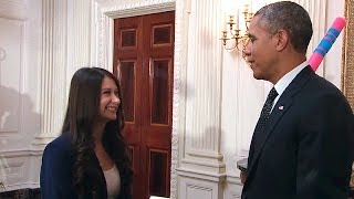 Repeat youtube video President Obama Tours the 2014 White House Science Fair