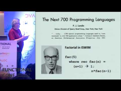 Why Functional Programming Matters by John Hughes at Functional Conf 2016